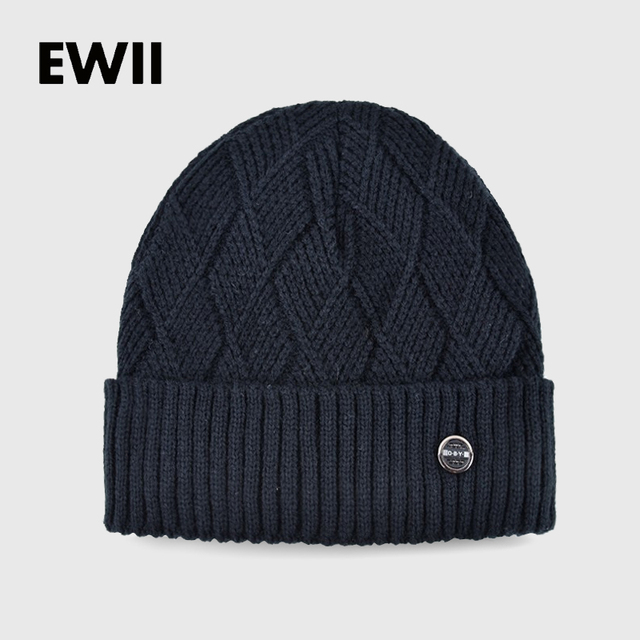 2017 Knitted wool hats for men winter hat boy beanie caps