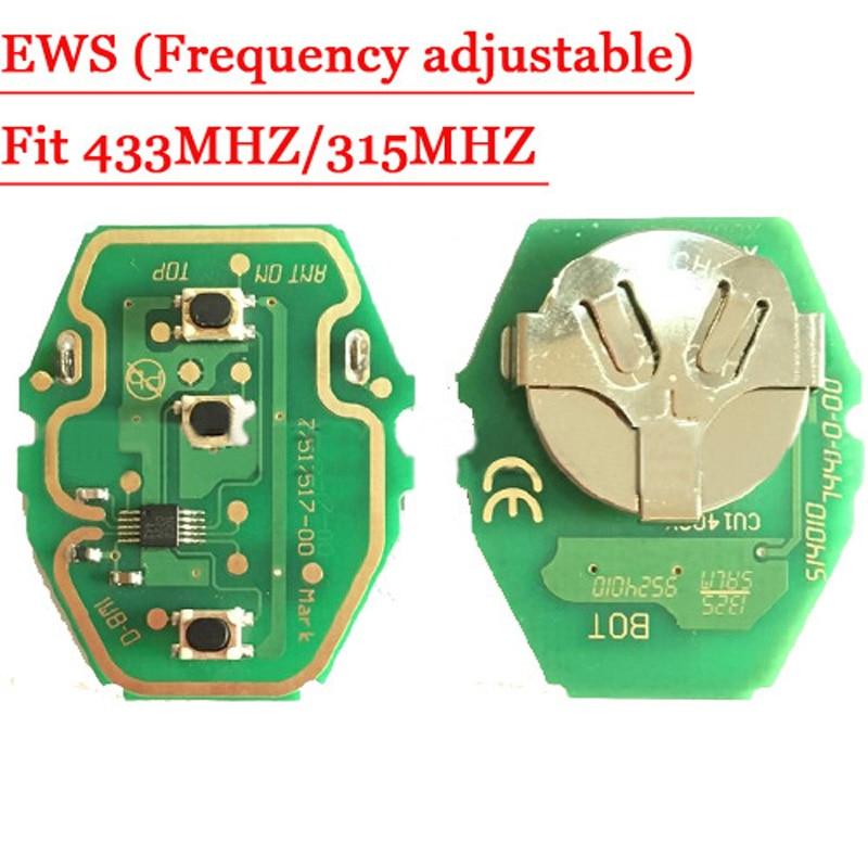 Prix pour EWS Distance Key Circuit Conseil 315 MHZ/433 MHZ Réglable 2-en-1 Pour BMW 10 pcs/lot