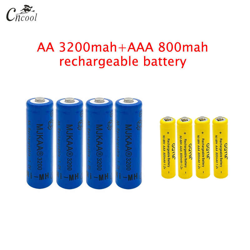 20 pcs AA 3200mAh Ni-MH Rechargeable Batteries + 20 pcs AAA 800mAh Rechargeable Batteries