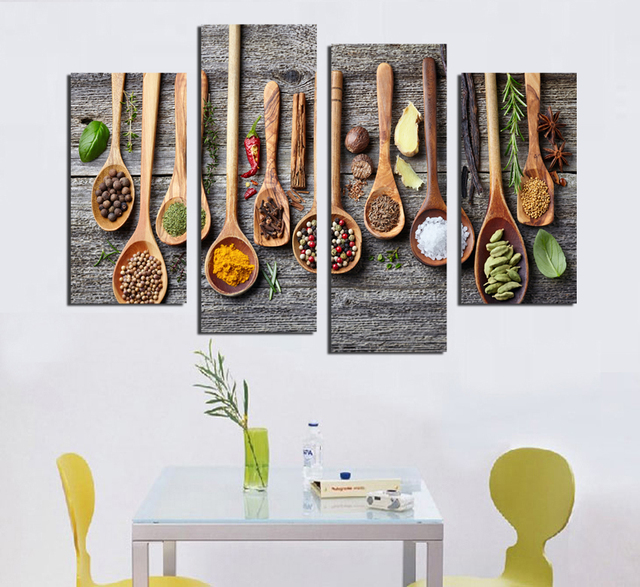 Poster Painting Tableware Restaurant Living Room Cuadros Unframed Modular Pictures F18885