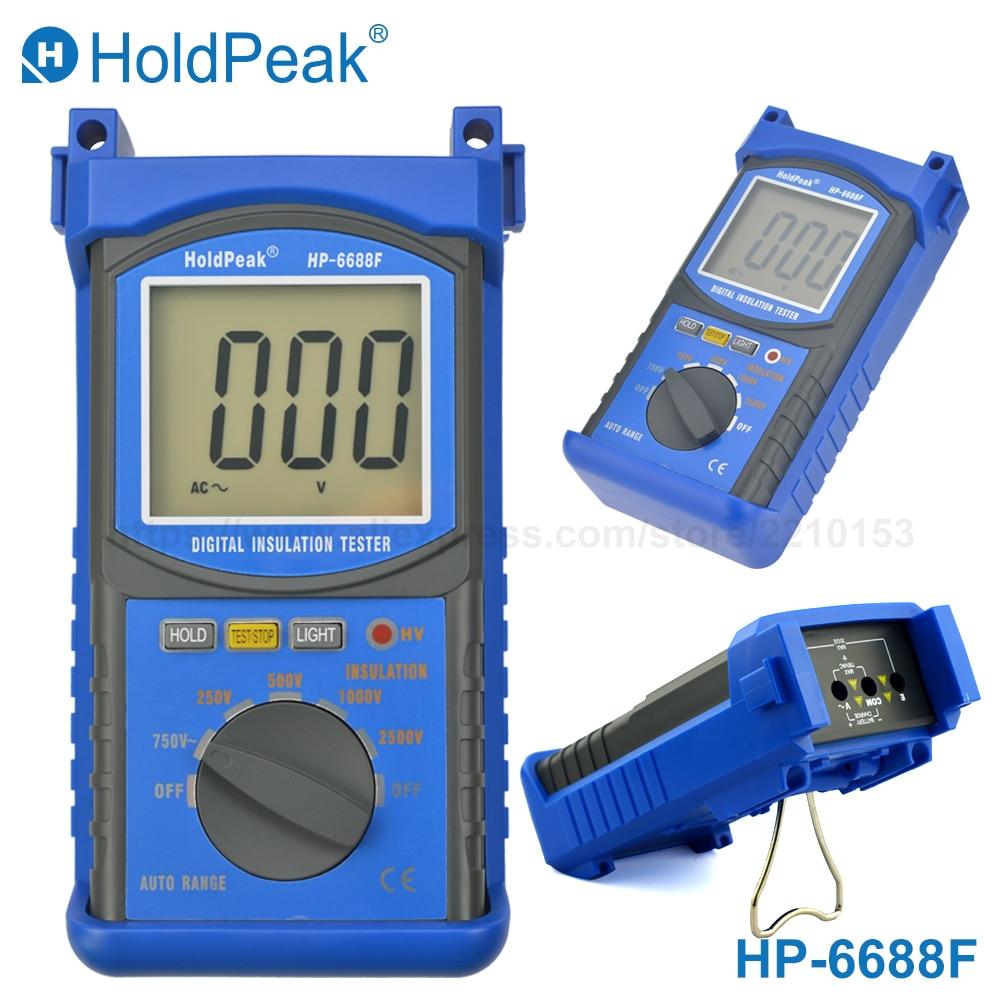 HoldPeak 6688F digital Megohmmeter Insulation Resistance Tester Electrical Resistance Meter 20G(ohm) 250V/500V/1000V/2500V