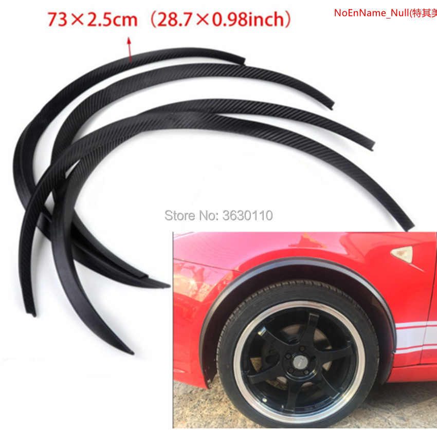цена на 4pcs Carbon Fiber Car Fender Wheel Eyebrow Protector Wheel Arch Trim Strip Audi A4 A6 A1 A3 A5 A8 A7 S1 S3 S4 S6 S7 S8 S5