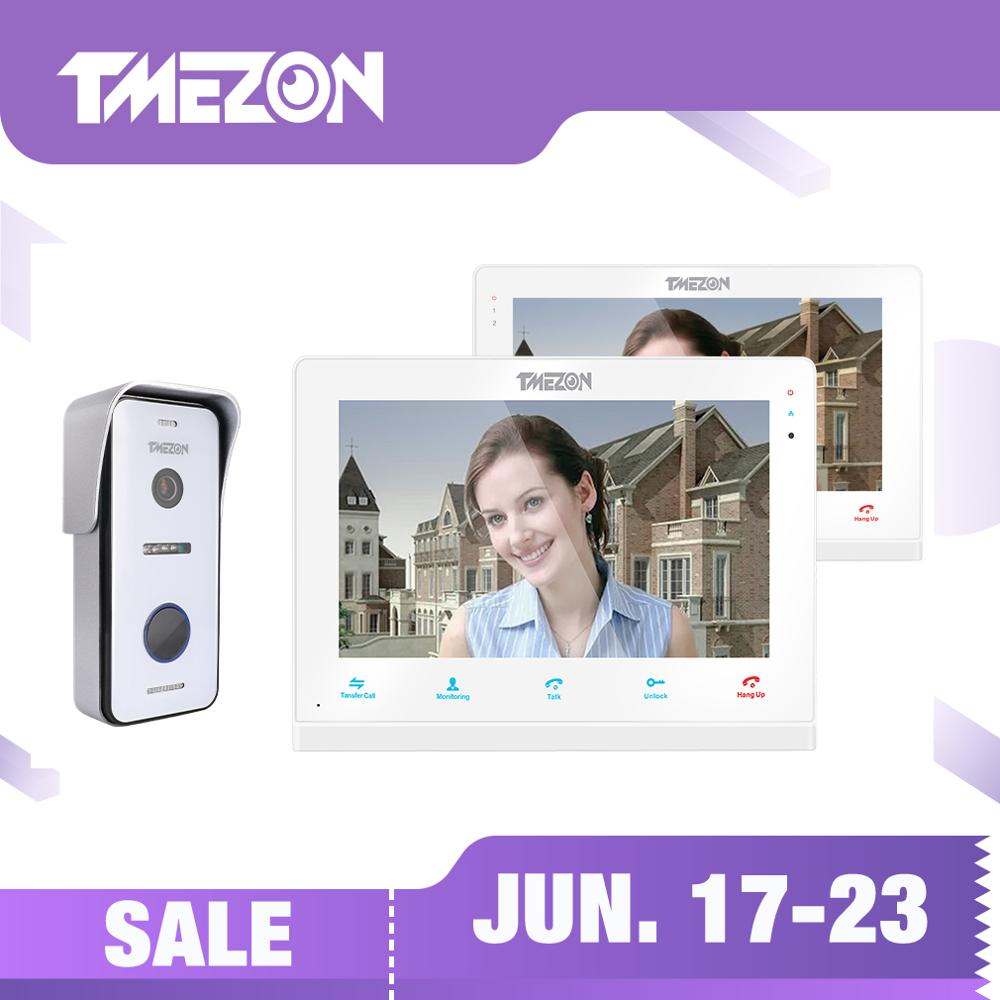 TMEZON  Wireless/Wifi Smart IP Video Doorbell Intercom System ,10 Inch+7 Inch Screen Monitor with 1x720P Wired Door Phone CameraTMEZON  Wireless/Wifi Smart IP Video Doorbell Intercom System ,10 Inch+7 Inch Screen Monitor with 1x720P Wired Door Phone Camera