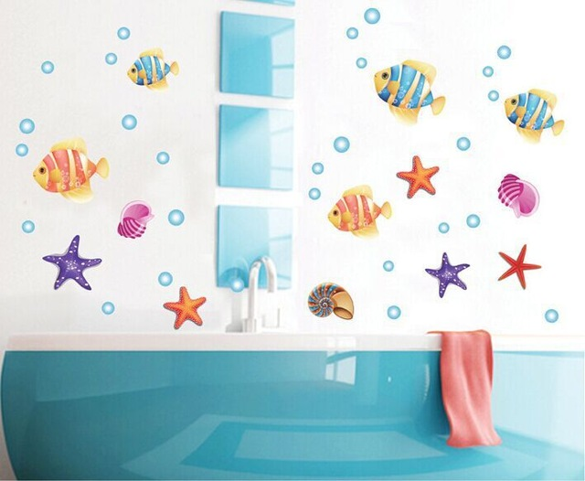 Lp Colorful Sea Fish World Finding Nemo Star Animals Removable Wall Sticker Decals Decor Art Wallpaper
