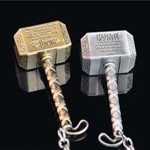 Vintage Thor Hammer Keychains Marvel Movie The Avengers 2 Thor Hammer Key Rings Zinc Alloy Key Holder Keyring Action figure Toy