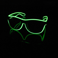 40pcs Lot LED Wire Flashing Eyeglasses Sound Control Light Blinkers Magic Luminous Goggles Festival Accessories L508