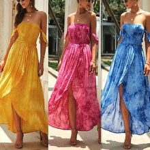 Women Off-shoulder Dress Casual Loose Asymmetric Floral Dress Beach Nightclub Party -OPK стоимость