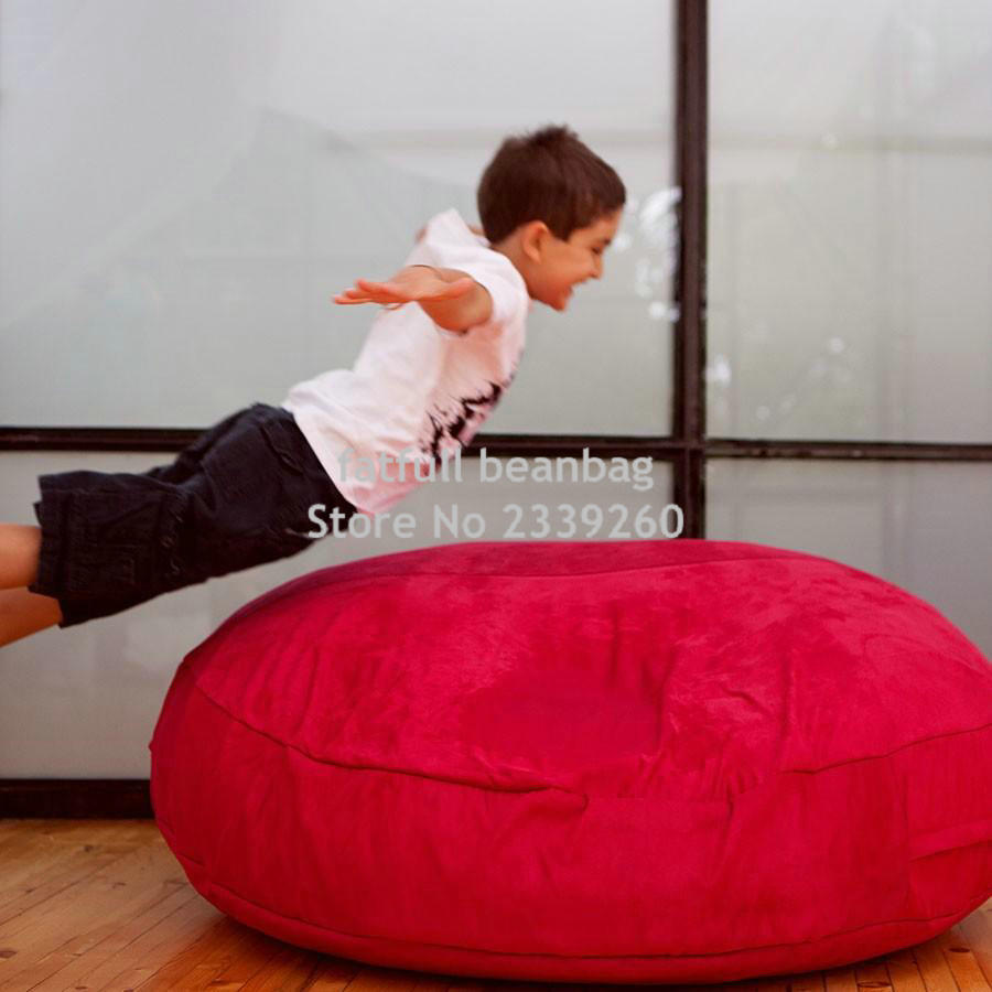 Cover Only No Filler Two Room Seat Bean Bag Chair Home