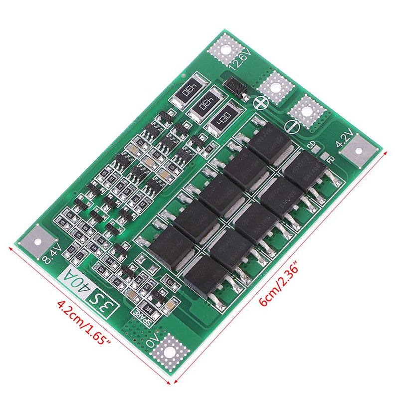 3S 40A 18650 Li-Ion Lithium Battery Charger Protection Board Pcb Bms For Drill Motor 11.1V 12.6V Lipo Cell Module #8 image