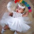 EMS DHL Бесплатно 2017 Новый Дизайн Кружева Цветы Дети Девочки Kidsdress вышивка Летний Стиль 0-3 лет Принцесса Dress
