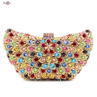 Moccen Butterfly Women Handbags Luxury Evening Bags Designer Clutch Ladies Hand Bag Luxury Crystal Party Diamonds