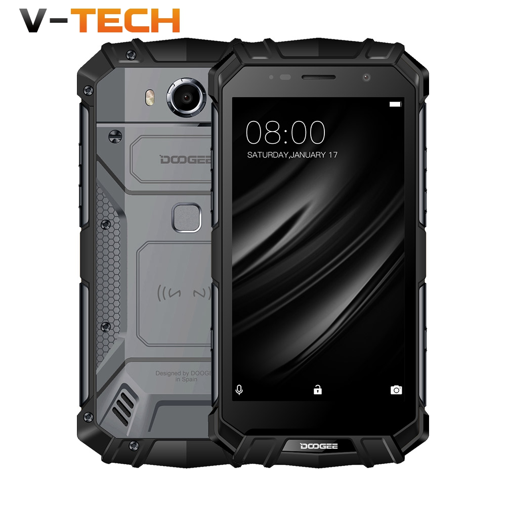 DOOGEE S60 LITE IP68 Waterpoof Dustproof Wireless 12V2A Mobile phone 5580mAh 4GB 32GB MT6750T NFC Smartphone Android 7.0