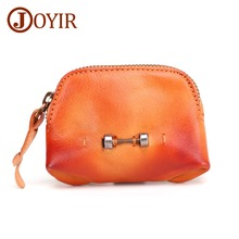 JOYIR Barbell Coin Purse  Wallet Women Men Change Bag Credit Card ID Holder Purses Wallets Genuine Leather Mens