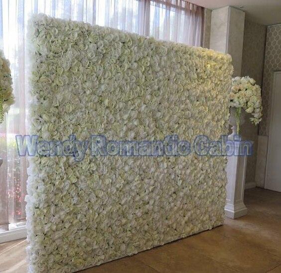 Toile de fond blanche de fleur de mur de fleur de mariage avec la décoration de mariage de support de tuyau en aluminium