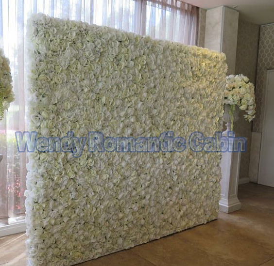 White wedding flower wall flower backdrop with aluminum pipe stand Wedding decoration