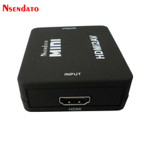 Mini Adapter Converter HDMI To RCA Composite Audio Video AV CVBS HDMI2AV HDMI RCA AV CVBS L R HD Video Box Support NTSC PAL
