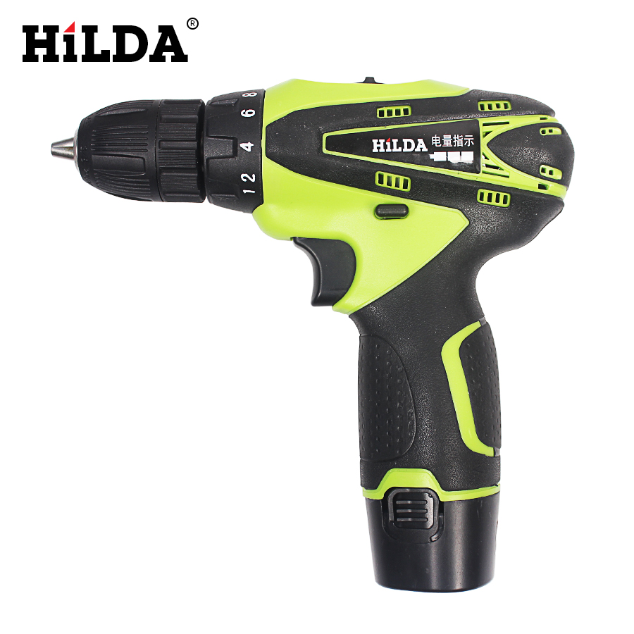 купить HILDA 12V Electric Screwdriver Lithium Battery Rechargeable Parafusadeira Furadeira Multi-function Cordless Electric Drill Tools недорого