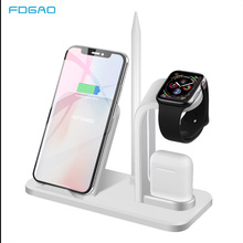 FDGAO Wireless Charger Stand For iPhone AirPods Apple Watch Series Dock Station Fast Charging X XS 8