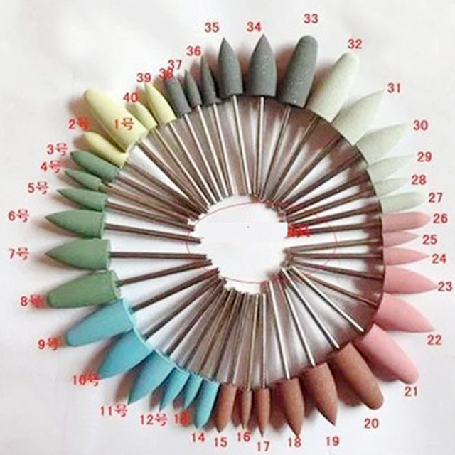 40pcs Dental Materials Silicon Rubber Polishing Grinding Bur As Shown in the photo Jewelry Buffing