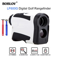 LCD BOBLOV גולף מד טווח 600m טווח מדידת מד טווח כף יד LCD תצוגת היקף ציד ליזר משקפת עמיד למים (1)