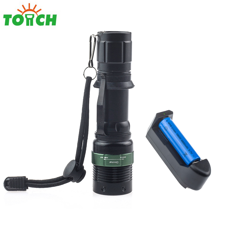 Waterproof CREE Q5 LED Flashlight High Power Hand Lamp Portable 3-Models Zoomable Camping Equipment Torch 1*18650/3*AAA zaklamp