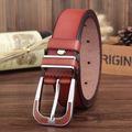 new 100% genuine leather belt women all match strap fashion wide pin buckle cowskin man belt good quality free shipping