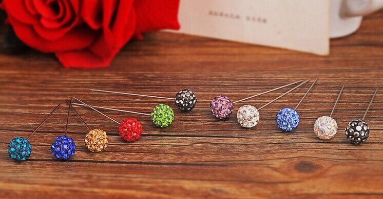 Модные женские брошь-Заколка Для хиджаба Разноцветные кристаллы мусульманские хиджабы 24 шт./лот заказ разных расцветок