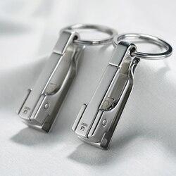 304 aço inoxidável porta-chaves do carro cinto de cintura pendurado simples de alta qualidade homens chaveiro fivela porta-chaves titular pais dia presente