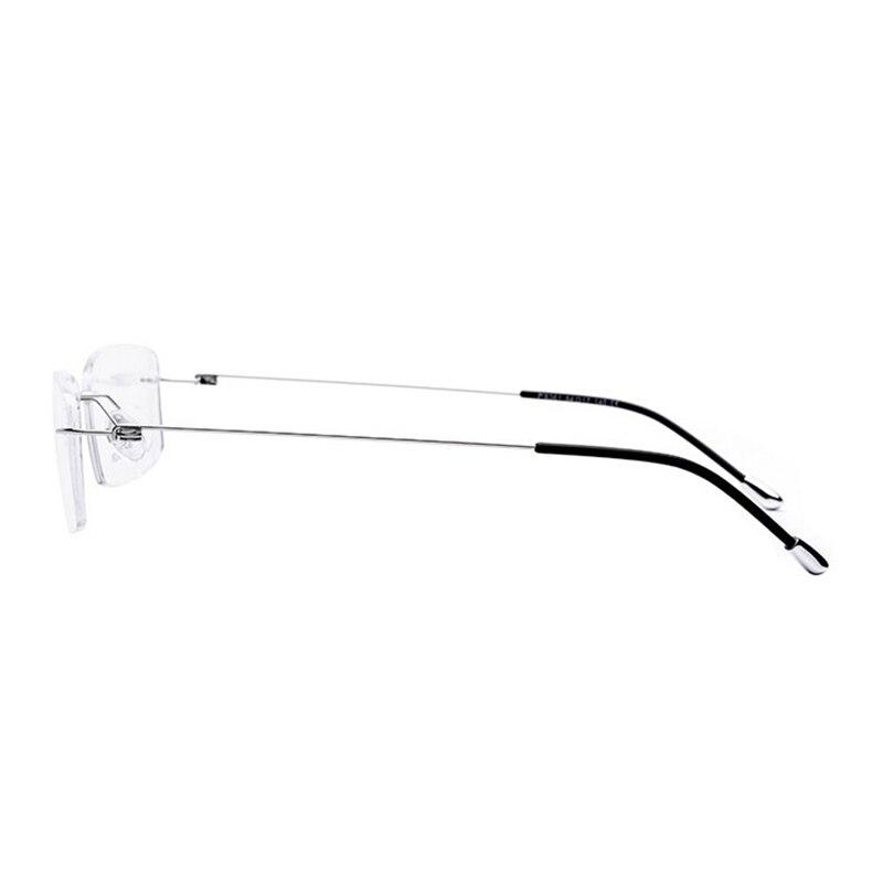 Image 2 - Titanium Rimless Rectangular Shape Eyeglasses Optical Frame for Men and Women Eyewear-in Men's Eyewear Frames from Apparel Accessories