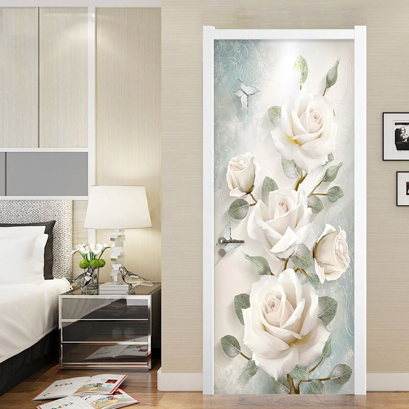European Style 3D Flowers Oil Painting Photo Murals Wallpaper Living Room Bedroom Wedding House Door Sticker PVC Wall Papers 3 D