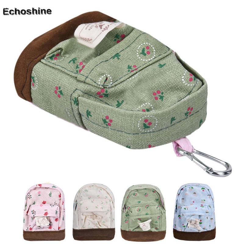 New Hot Canvas Mini Floral Backpack Women Girls Kids Cheap Coin Pouch Wholesale A1500