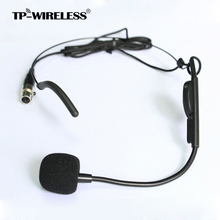 TP-Wireless Top Quality Cardioid Condenser Headworn Headset Microphone with Flexible Wired Boom XLR Connector Free Shipping