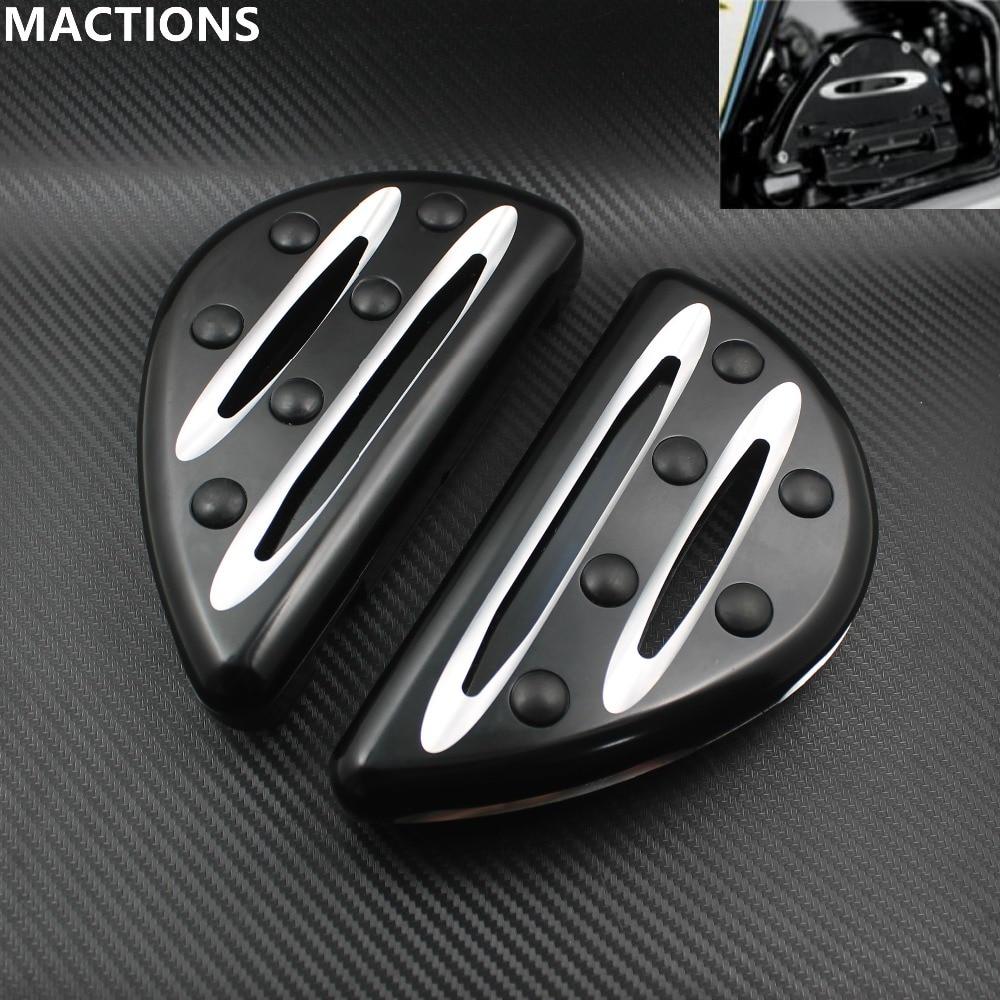 Motorcycles Parts Pedal Black Cast Chrome Rear Black Passenger Floorboards For Harley FLH FLST FLD