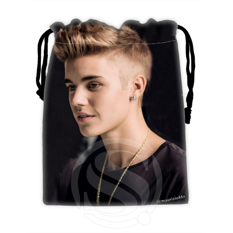H-P740 Custom Justin Bieber#7 drawstring bags for mobile phone tablet PC packaging Gift Bags18X22cm SQ00806#H0740