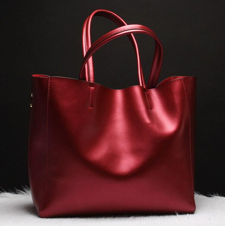ФОТО New design genuine leather purses and handbags 2016 luxury brand fashion real solid women bag high quality large capacity tote