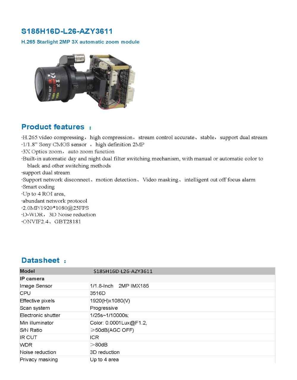 Ip kamera 1080 p ip kameras ptz motorisierten zoom IMX185 ...