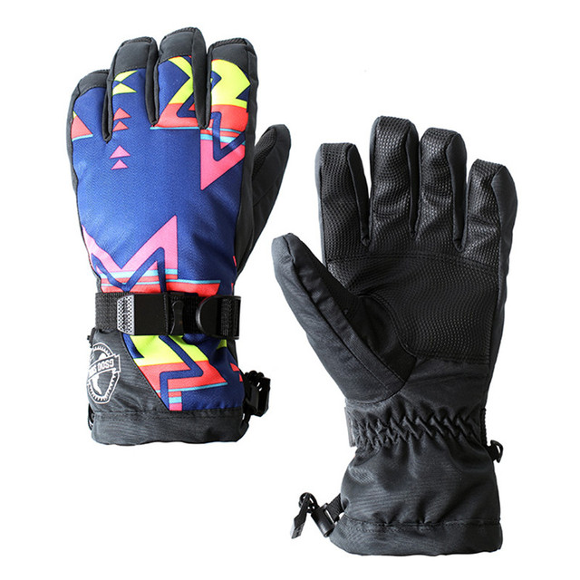 ad928647cf9e New Style Gsou Snow Women Ski Glove Outdoor Sport Wear Windproof Waterproof  Riding Hiking Skiing Snowboard Female Print Warm