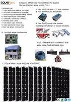 BOGUANG solaire power station 2500 W Solaire La Maison hors réseau cravate systèmes mer expédition 8 pcs 250 W mono solaire modules support contrôleur