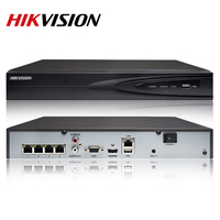 Hikvision OEM 4CH PoE NVR DT604 H1/P4=DS 7604NI K1/4P CCTV System 4 channel PoE NVR with 4K solution plug & play NVR
