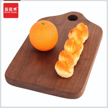 European black walnut wood chopping block board creative fruit cooking bread custom LOGO