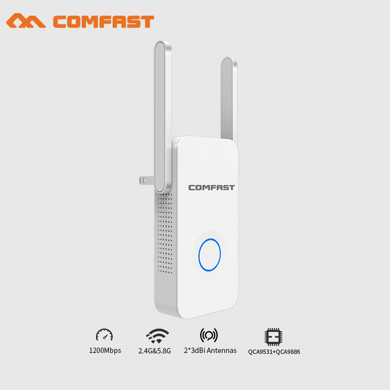 6PCS 5Ghz Wifi Router 1200Mbps Gigabit Dual Band Wi-Fi Signal Extender Booster Repeator 802.11ac WiFi Repeater With 6dBi Antenna