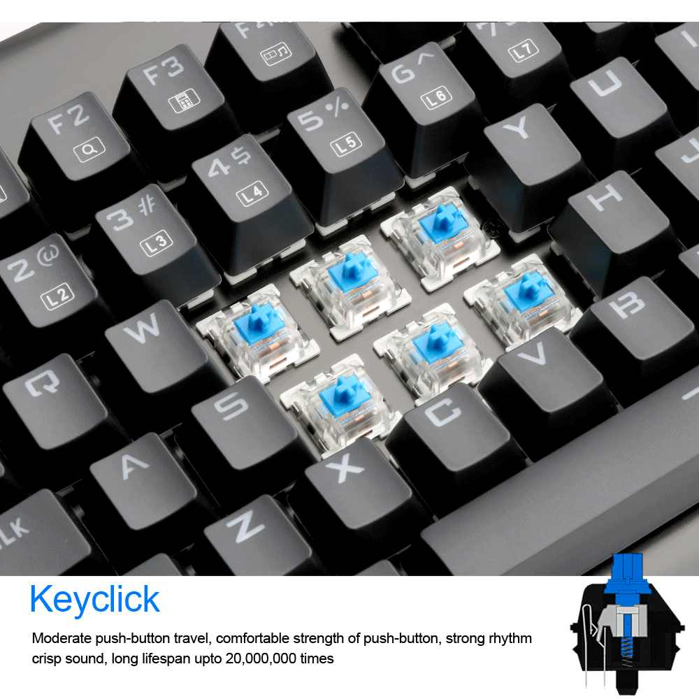 Redragon K561 قوس قزح USB الميكانيكية الألعاب لوحة المفاتيح الأزرق التبديل LED الخلفية 87 مفاتيح مكافحة الظلال السلكية الكمبيوتر لعبة كمبيوتر
