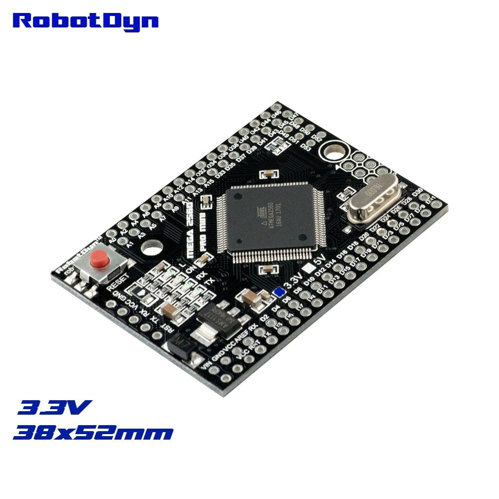 Mega 2560 pins - Mega 2560 PRO MINI 3.3V, ATmega2560-16AU, NO pinheaders. Compatible for Arduino Mega 2560.