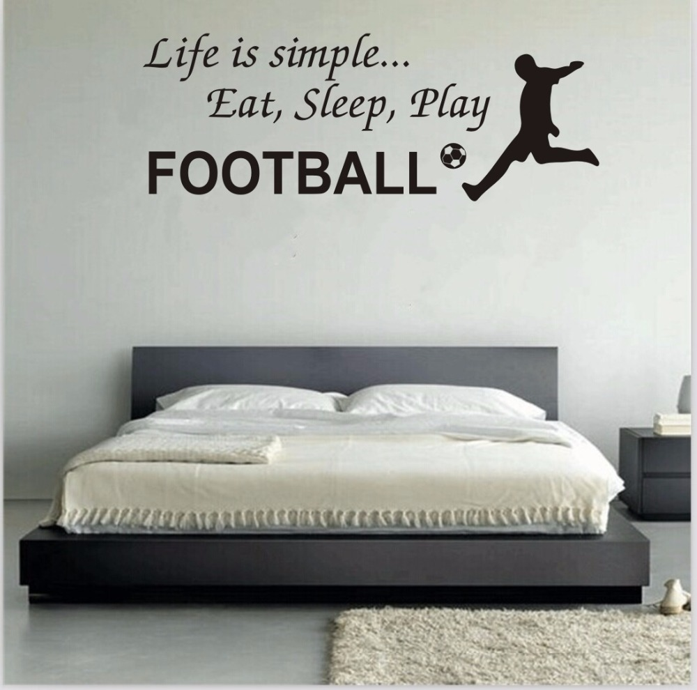 Can be customized ebay bursts of football wall stickers living can be customized ebay bursts of football wall stickers living room bedroom sofa background mural green pvc decorative decals in underwear from mother amipublicfo Images
