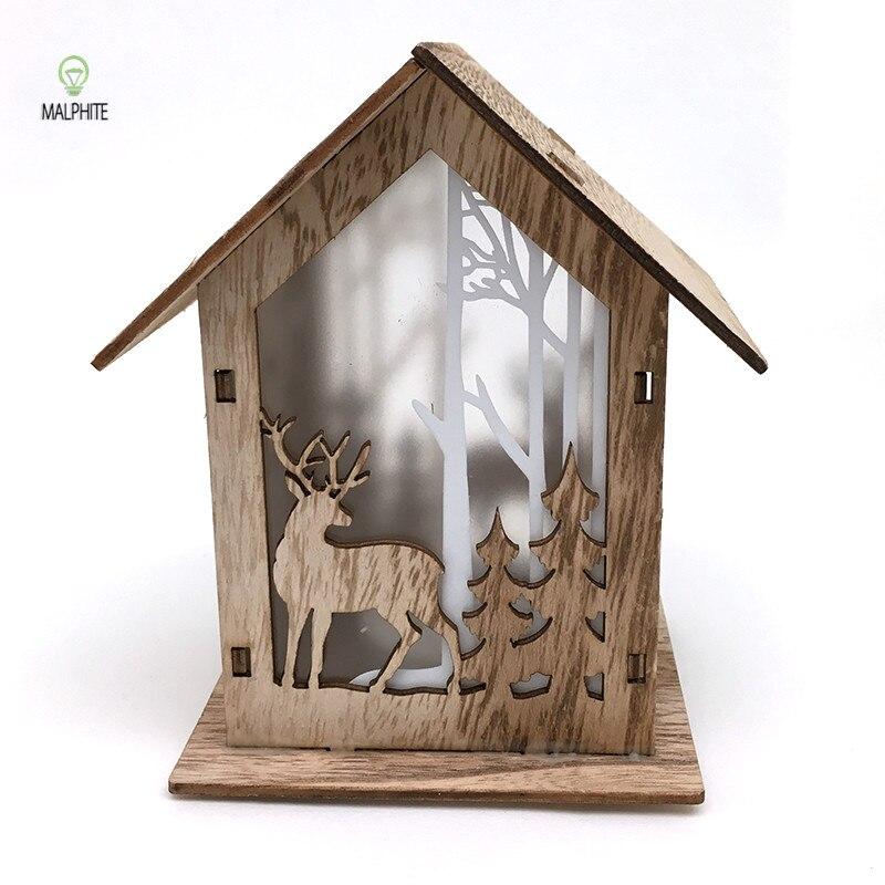 Amerikaanse Kerst Tafel Licht Houten Herten Tafel Lampen Voor Slaapkamer Armatuur Woonkamer Lamp Muur Indoor Decor Verlichting Armatuur