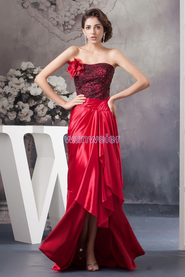 free shipping 2018 new design hot seller custom size/color beading gown short front long back plus size   bridesmaid     dresses