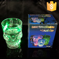 New Water Inductive Glowing Wine Beer Cola Cup Mug LED Glowing Skull Shape LED Skull Mug 14oz 400ml LED skull cup free shipping