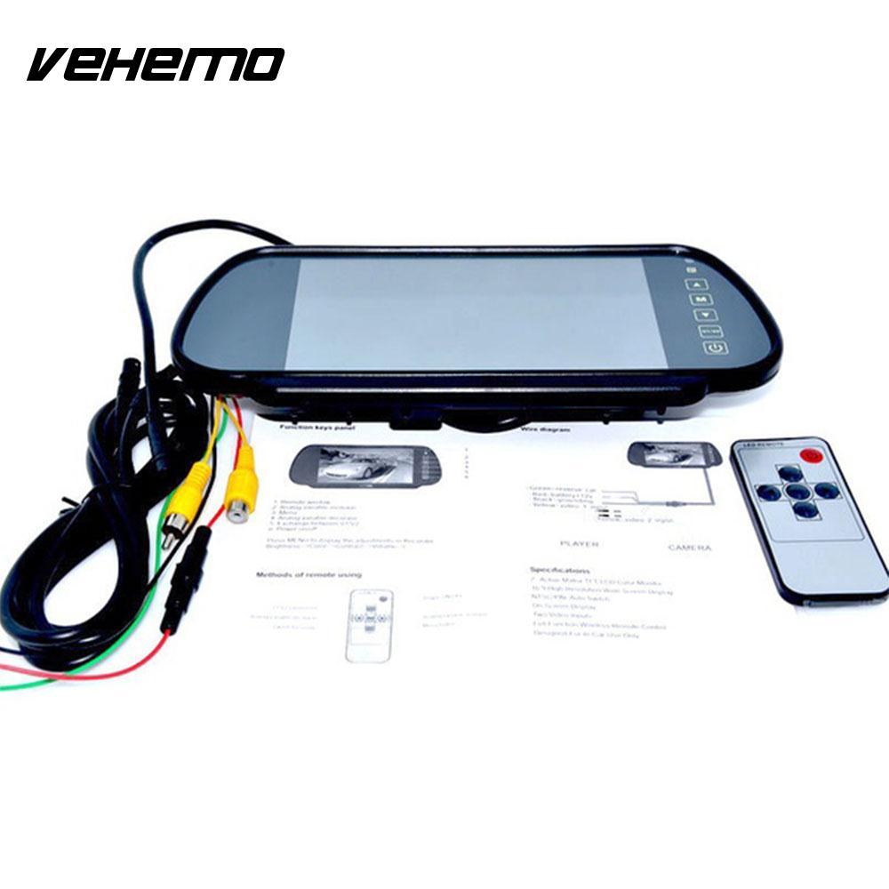 Vehemo IP68 7 дюйм(ов) рецензент автомобиля зеркала заднего вида монитор Сенсорный экран резервного копирования Камера Регистраторы объектив Ун...