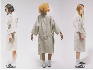 Image 4 - 7 Colors.Women Sleepwear Linen Pajamas Robes.Breathable Shower Spa Linen Robe Night Bathrobes Sleep Nightgown Robe Dressing Gown