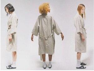 Image 4 - 7 Màu. Phụ Nữ Đồ Ngủ Vải Lanh Bộ Đồ Ngủ Áo Choàng. Thoáng Khí Tắm Spa Lanh Áo Dây Đêm Áo Choàng Tắm Ngủ Váy Ngủ Áo Choàng Áo Đầm Xếp Ly